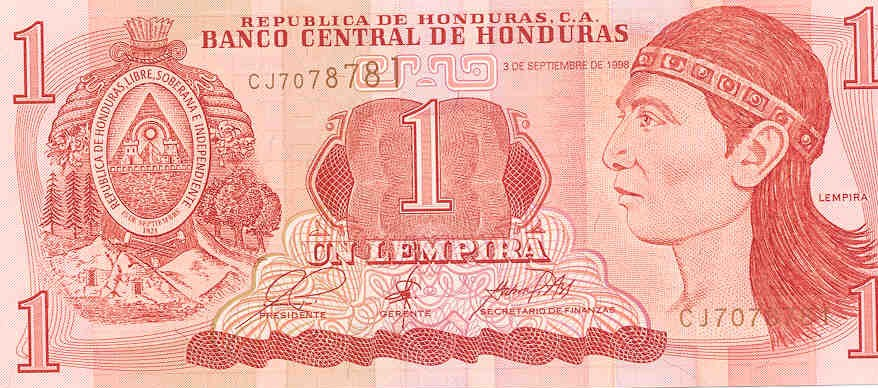 Front of the Honduran Lempira