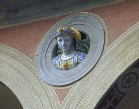 A head above the cloisters