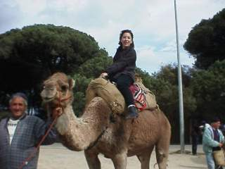 Kristina on the camel