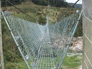steel cable bridge