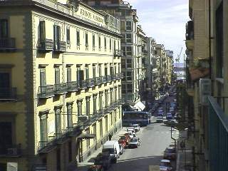 The view from our hotel balcony in Palermo