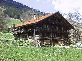 Typical Swiss chalet