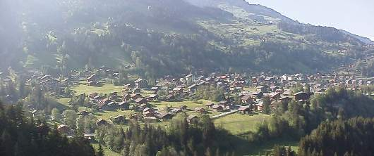 Champery from the Galerie