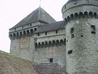 Tower detail of Chateu Chillon