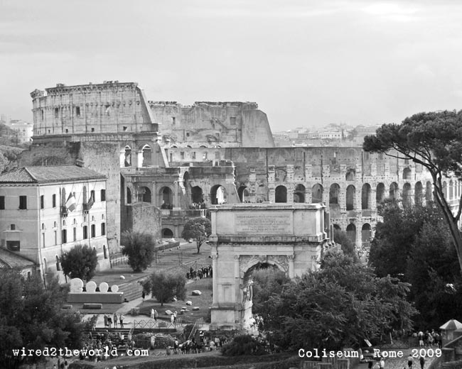Photo of Rome Coliseum in black and white