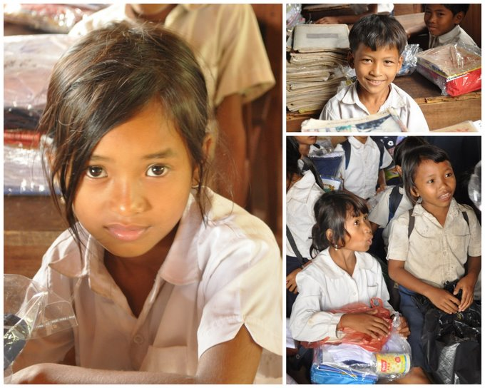 Children at Koh Ker school in Cambodia
