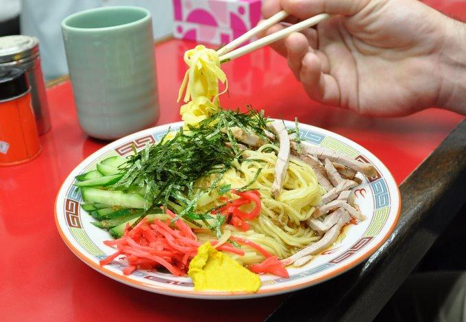 Pork Noodles (Hiyashi Chew Ka) in Tsukiji Market