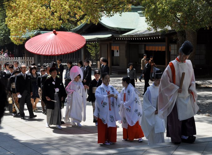 Wedding Procession at Meiji Shrine