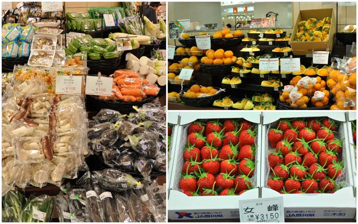 Fruit & Vegetables in Daimaru Department Store Kyoto