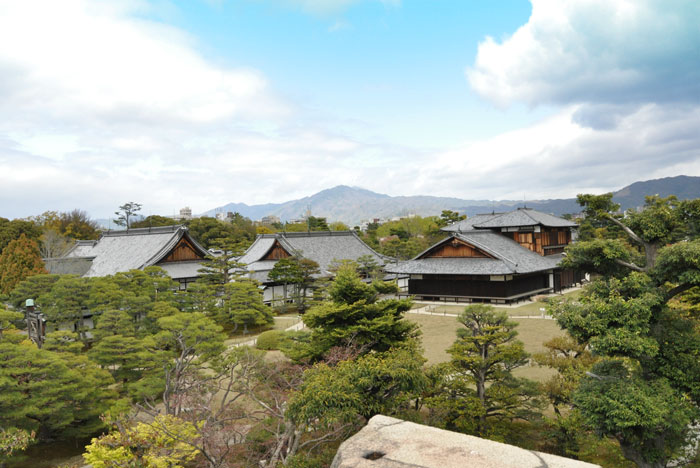 Looking over Nijo Castle