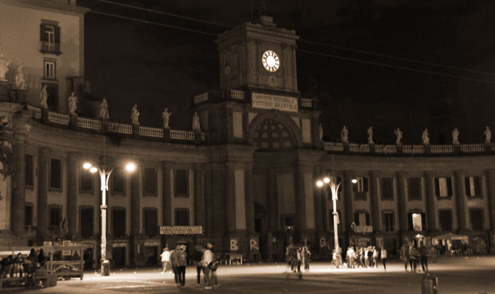 Piazza Dante at night