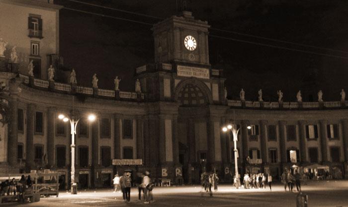 Piazza Dante at night