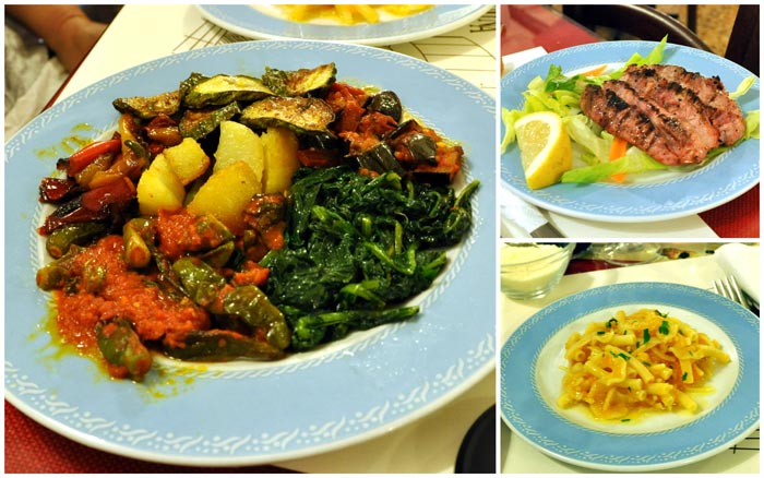 Food at la Cantina di Via Sapienza, Naples