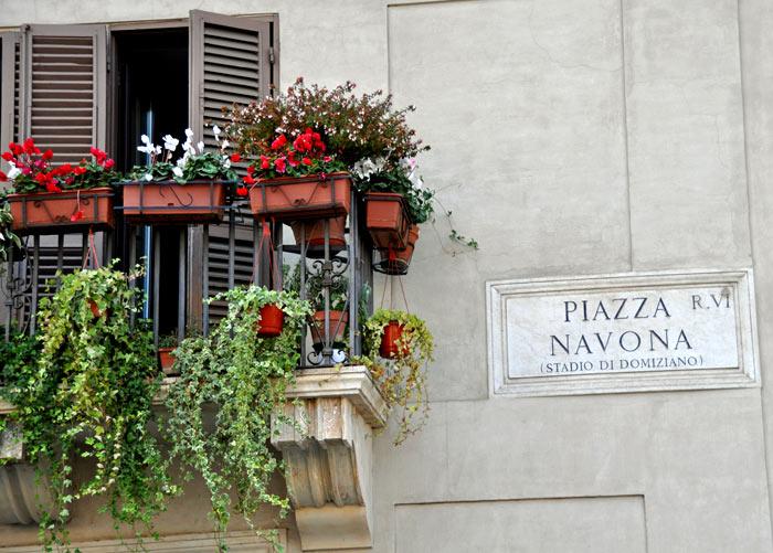 Piazza Navona Sign