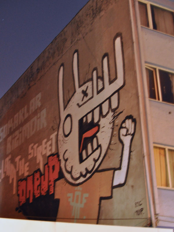Istanbul Graffiti at Night