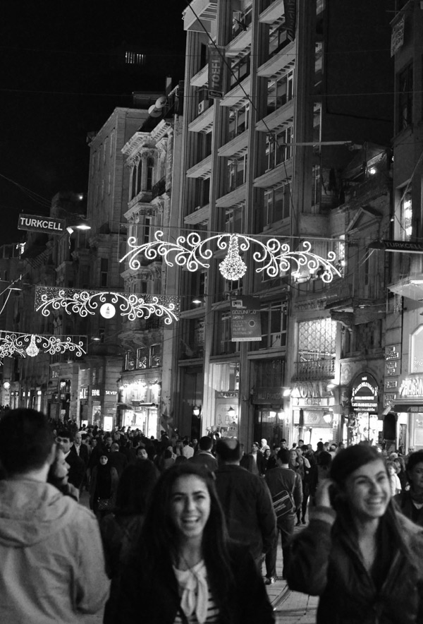 Istikal Caddesi at night