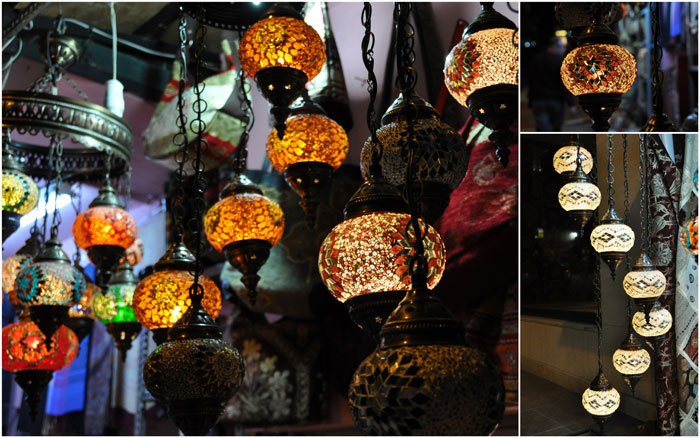 Istanbul lamps at night