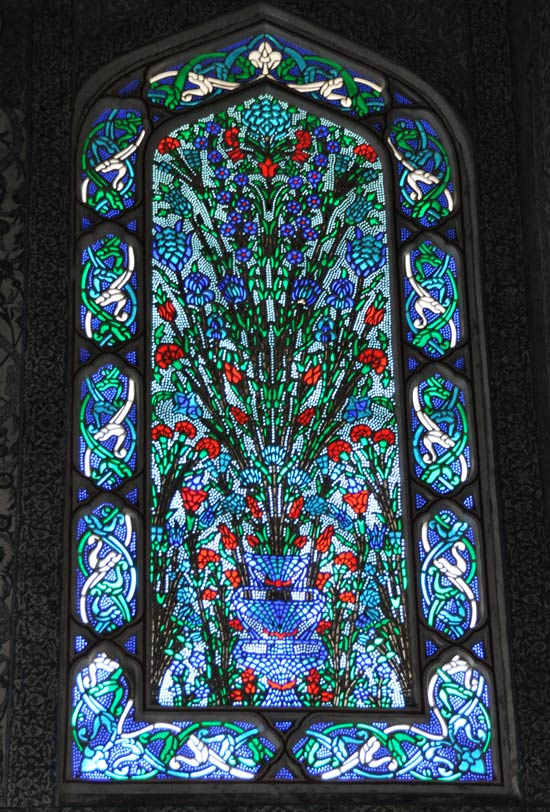 Topkapi Palace harem stained glass