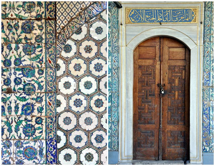 Topkapi Palace door and tile