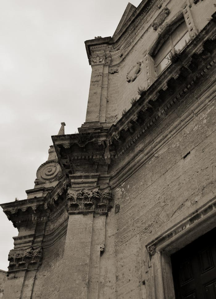 Detail of church in Monopoli.