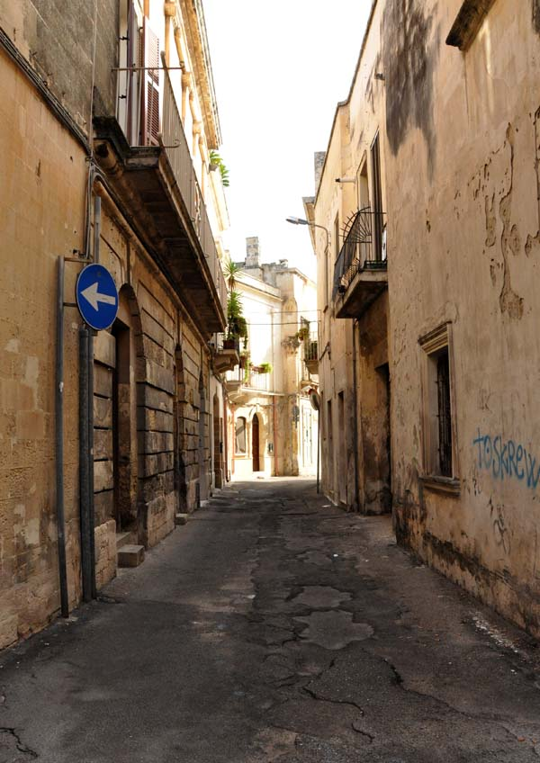 Street next to Palazzo Gorgoni Lecce