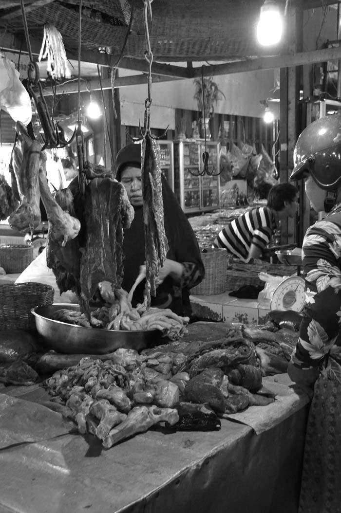 Siem Reap Old Market Halal butcher