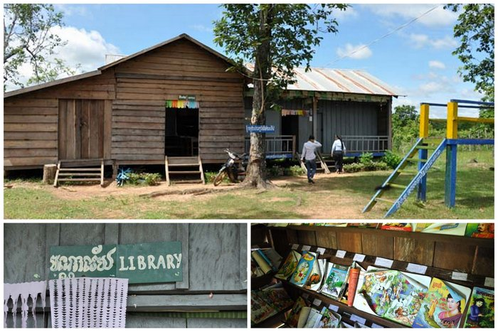 The old library Child at Koh Ker School Cambodia, Ponheary Ly Foundation