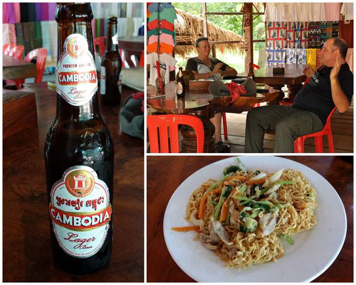 Lunch at the open air restaurant in front of Koh Ker Temple.