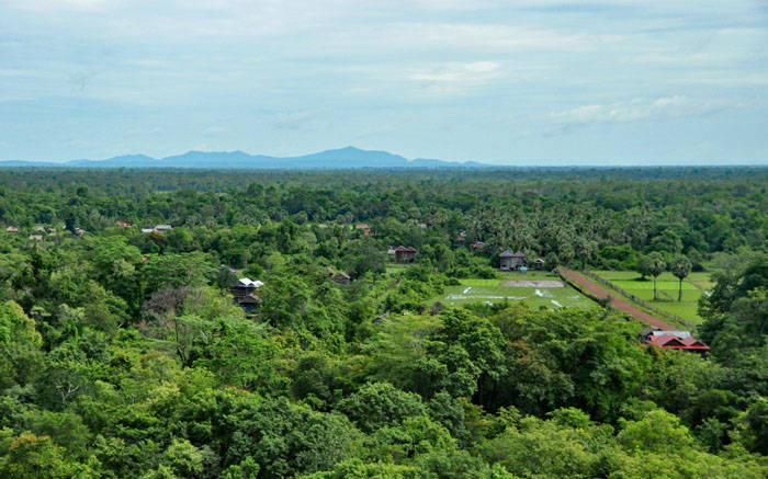 View from the top of Koh Ker Temple.