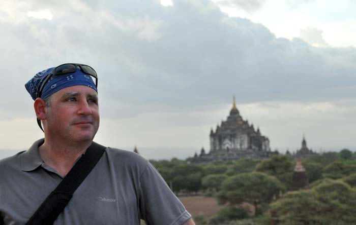 David at Shwesandaw Pagoda, Bagan's Sunset Temple