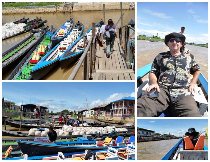 From the plane to a boat in Inle to the hotel.