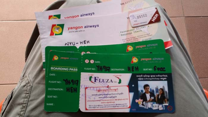 Yes, they still use paper tickets on Yangon Airways.