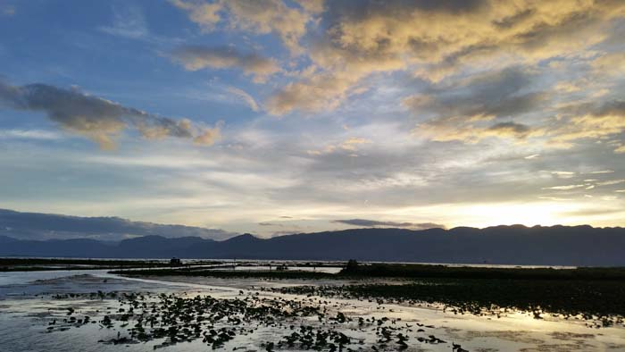 Inle Lake view from room.