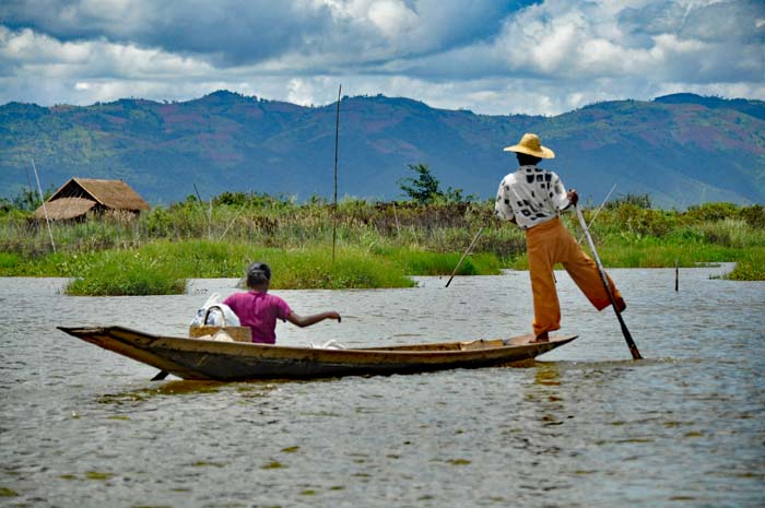 Inle Lake fisherman.