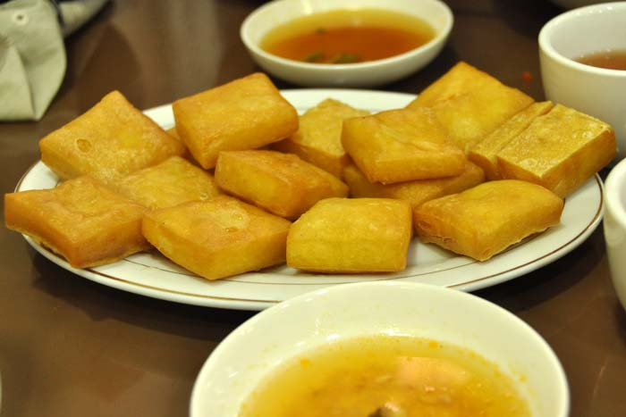 Fried Tofu at 999 Shan Noodle Restaurant