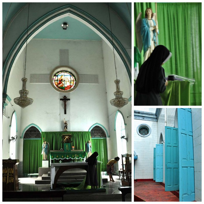 Catholic Church during Heritage Building Tour Yangon