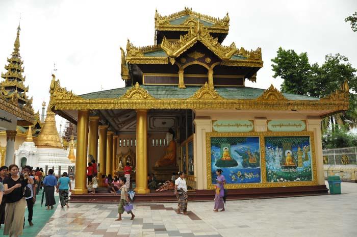 Schwedagon Pagoda in Yangon Myanmar