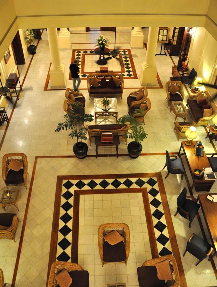 Strand Hotel Lobby Yangon, Myanmar