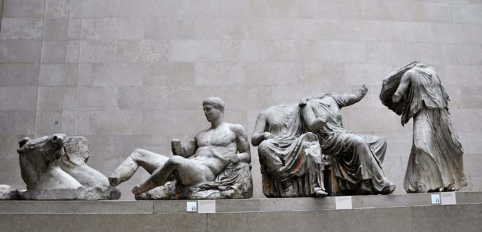 The Parthenon marbles from the Athens.