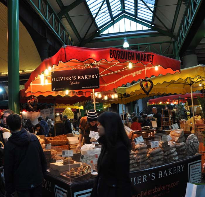 London Borough Market- we bought beautiful bread here.