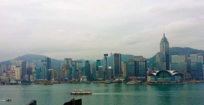 Hong Kong morning view from YMCA.