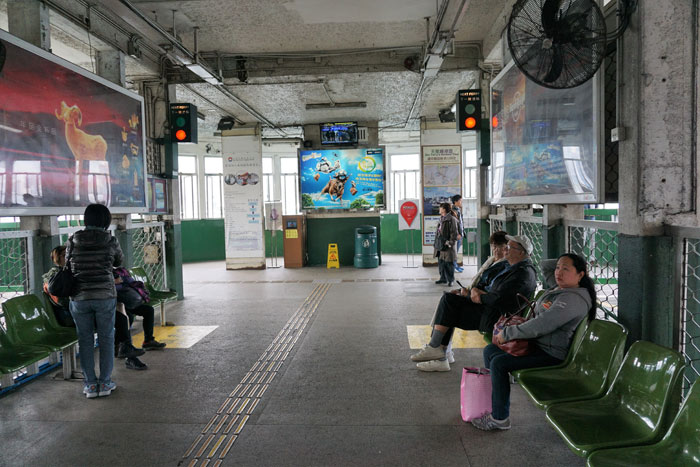 Waiting for the Star Ferry.