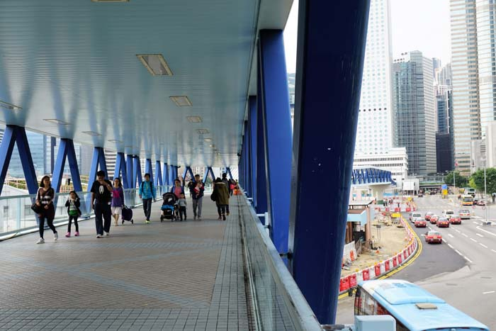 Central elevated walkway.