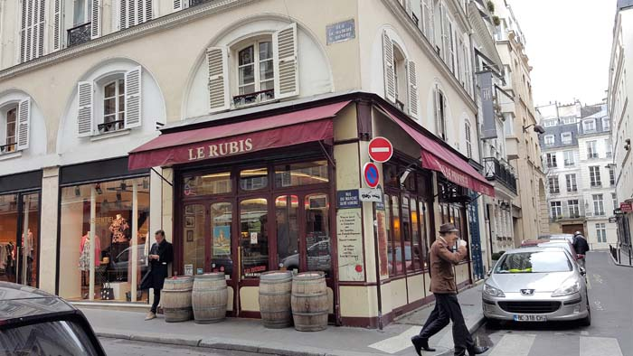 One of a million restaurants in Paris.