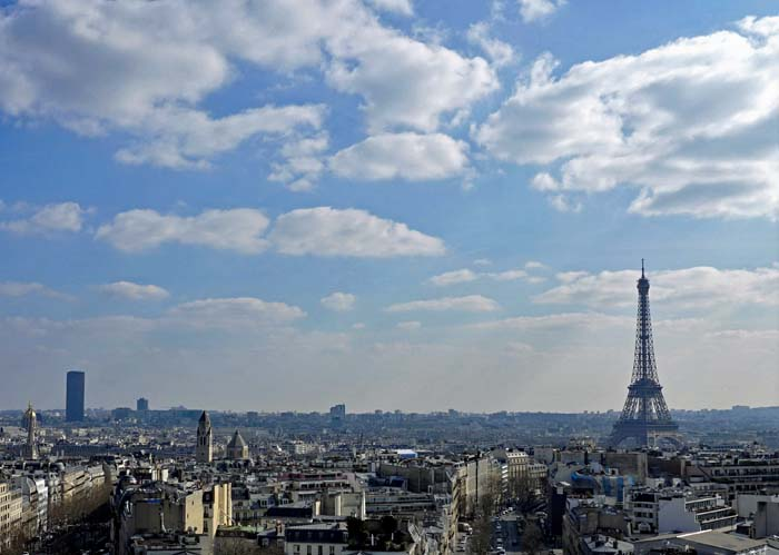 View Of Paris From The Top Arc De Triomphe