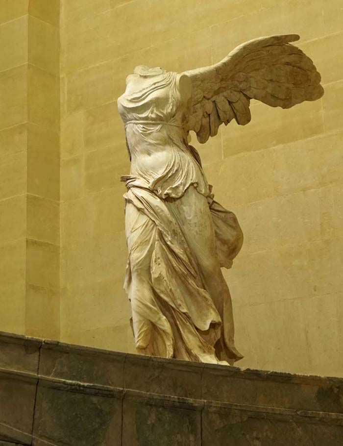 My favorite statue in the Louvre, the Winged Victory.