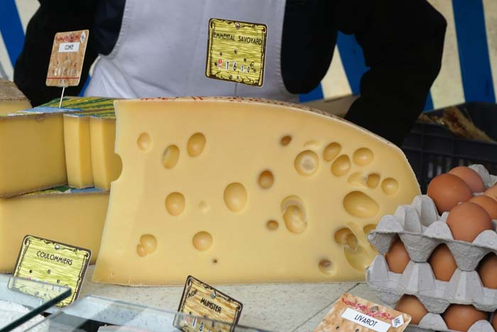 Cheese in the market.