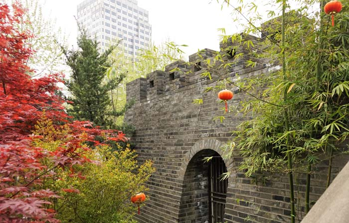 Part of the old city wall next to Dajing Ge Pavilion