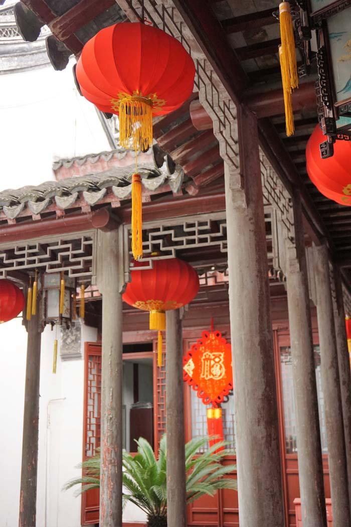 Inside the Dajing Ge Pavilion