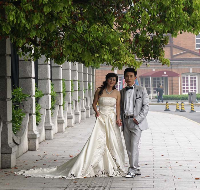 Brides on the street in China